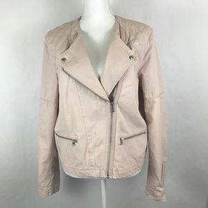 Womens Gap Jacket Size 16 Light Blush Motorcycle